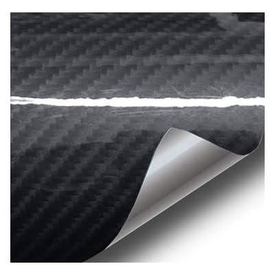 VViViD High Gloss Black Carbon Fiber Tech Art 2ft x 5ft 3 Layer 3D (not Printed) Realistic True Carbon Fiber Look Cast Vinyl Wrap for Car, Boat, Bike DIY: Automotive [5Bkhe1002985]