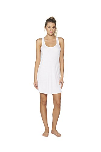 BAREFOOT DREAMS LUXE RIBBED JERSEY CHEMISE (LARGE, (Chiffon Silk Chemise)