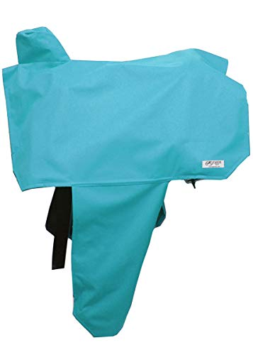 Tahoe Premium Nylon Waterproof Western Saddle Cover, Turquoise ()