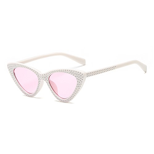Gato Degradado H Bastidor UV400 Femenina G de de del Gafas Mujeres Moda Burenqi Nuevo Diamante Diseñador Colorido Gafas Ojo c7TWqA8UZ