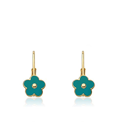 Gold Plated Brass Ring (Little Miss Twin Stars Frosted Flowers 14k Gold-Plated Turquoise Lever Back Earring/Brass)