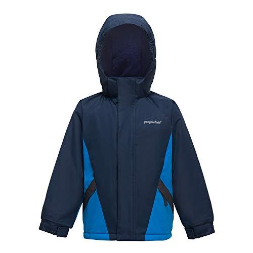 YINGJIELIDE Boy's Waterproof Ski Jacket Kids Outdoor Windproof Fleece Lined Hooded Winter Coat Navy 5-6 Years