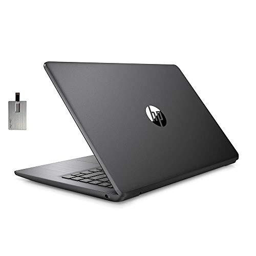 2020 HP Stream 14″ HD SVA Laptop Computer, Intel Celeron N4000 Processor, 4GB RAM, 64GB eMMC Flash Memory, Intel UHD Graphics 600, 1-Year Office, Bluetooth, Win 10S, Black, 128GB SnowBell USB Card
