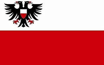 U24 Aufkleber Lübeck Flagge Fahne 8 X 5 Cm Autoaufkleber Sticker Auto
