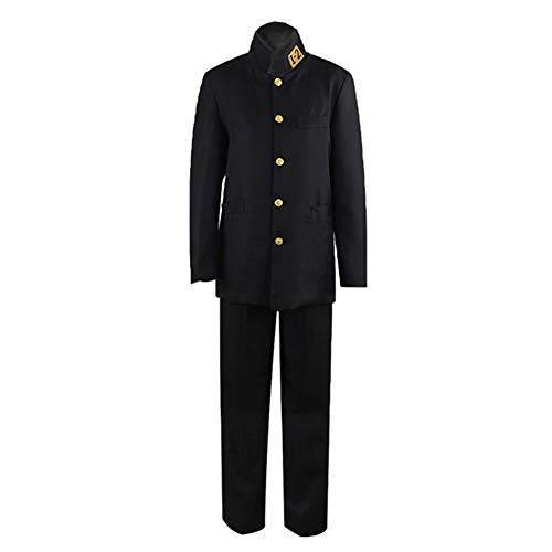 YSZYZX Men's Cosplay Japanese Anime School Uniform Chinese Tunic Suit,Asian Size M:Bust 39.3in(100cm),Black