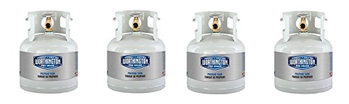 Worthington 281149 1-Gallon Steel Propane Cylinder With Type 1 With Overflow Prevention Device Valve (4-Pack) by Worthington