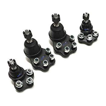PartsW 4 Pc Complete Front Upper /& Lower Ball Joints Suspension Kit for DODGE DAKOTA 2000-2004 /& DODGE DURANGO 2000-2003 2-Wheel Drive Models Only