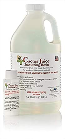 1 2 Gallon Cactus Juice Stabilizing Resin Hardening Wood And Other Porous Material Free Shipping Amazon Ca Industrial Scientific