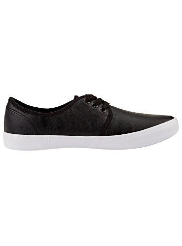oodji Ultra Hombre Zapatos Básicos de Piel Sintética Negro (2900N)
