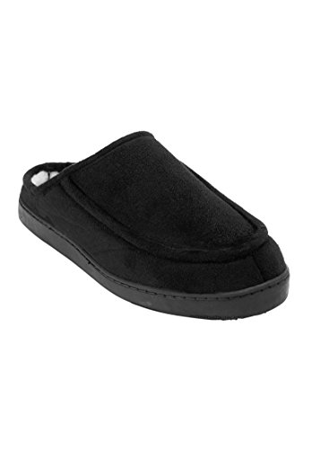 KingSize amp; Tall Men's Big Slippers Clog Black Microsuede gqgzSwr