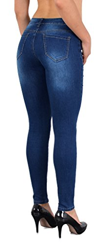 brod en Jean Fleur tex Z75 Jean Femmes Femme Pantalon Skinny Slim Vintage Jeans rtro J169 by navwqWAW