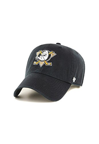 – Brand Nhl Clean negro V Up Ducks Anaheim Fit Curved Gorra Relax 47 negro URqE44