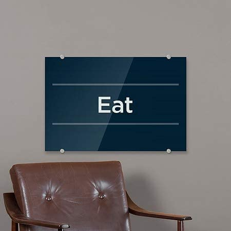 5-Pack 8x3 for Lease CGSignLab Classic Navy Premium Acrylic Sign