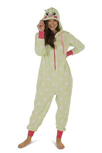 - Totally Pink Women's Plush Warm and Cozy Character Adult Onesie/Pajamas/Onesie (Medium, Parrot)