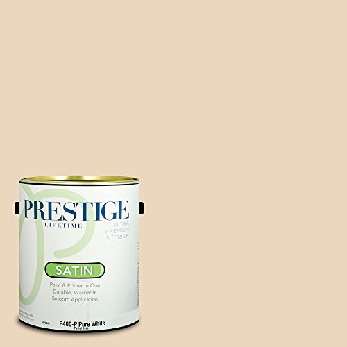 Prestige Paints Interior Paint and Primer In One, 1-Gallon, Satin,  Comparable Match of Benjamin Moore Creamy Satin ()