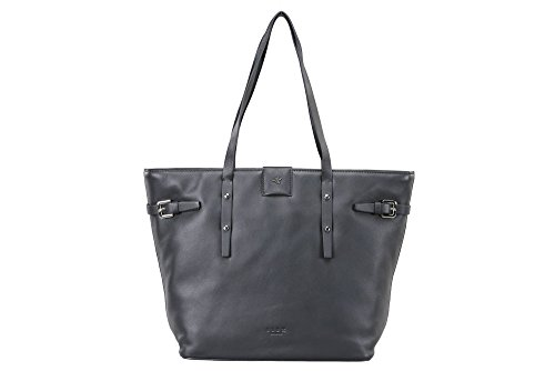 ILEX LONDON Women's Elle Tote Bag H 29 X L 45 X W 13 Cms (Elle Black Bag)