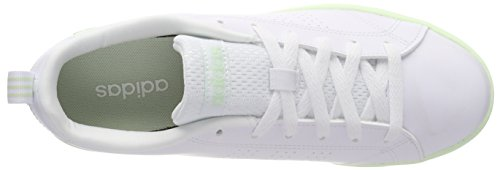 adidas Women's Vs Advantage Clean Low-Top Sneakers, White, 4.5 UK Off White (Ftwr White/Ftwr White/Aero Green S18 Ftwr White/Ftwr White/Aero Green S18)