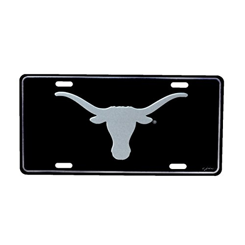 Texas Longhorns Elite Black Mirrored License Plate