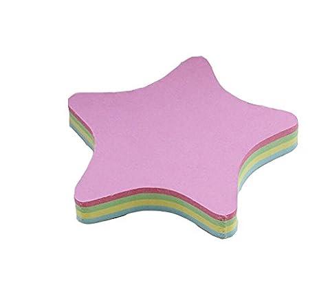 Rainbow Love Sticky Note Cube Super Sticky Removable Notes Pad,Set of 2 (Star Shaped) - Star Shaped Sticky Notes