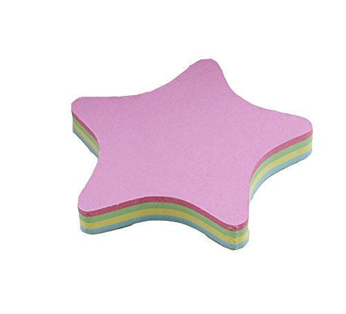- Rainbow Love Sticky Note Cube Super Sticky Removable Notes Pad,Set of 2 (Star Shaped)