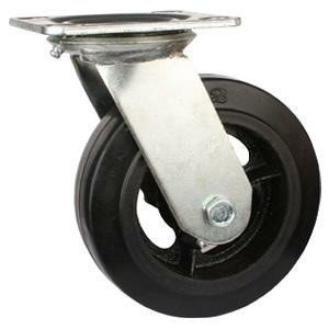 8X2 Rubber on Cast Iron Swivel Caster with brake by USA Made Carts
