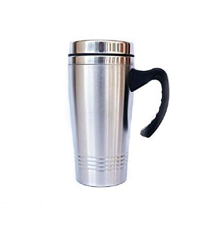 Stainless Steel Auto Travel Mug 16oz Cup Fits All Car Holders Spill Proof Spout