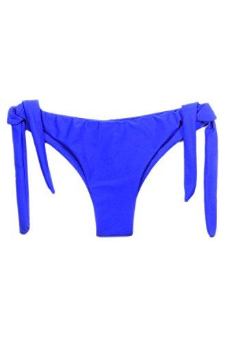 YACUN Damen String Bikini Bottom Krawatte Seite Dreieck Badeanzug Blau yaPljAAxT