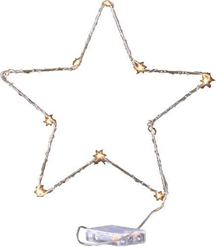 Jandei - Luz Decorativa De Navidad Forma Estrella Alambre Dorado ...