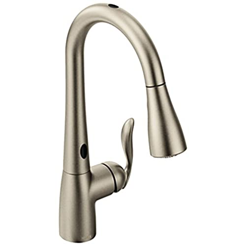 Elegant Moen Arbor Motionsense Touchless One Handle High Arc Pulldown Kitchen Faucet  Featuring Reflex, Spot Resist Stainless (7594ESRS)