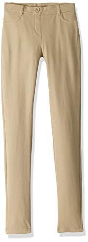 Nautica Junior's School Uniform Stretch Jegging Pant, Khaki, Medium 7/9