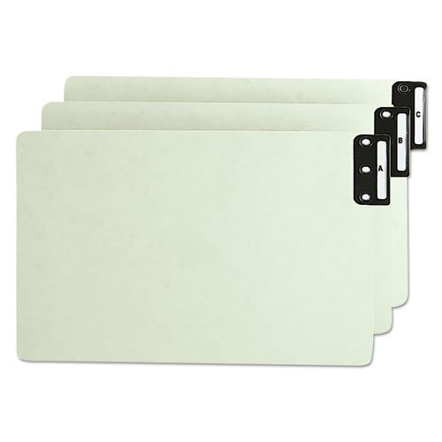 End Tab Guides, Alpha, Vertical Metal Tabs, Pressboard, Legal, 25/Set, Sold as 25 Each ()