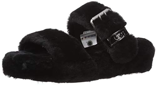 Used, UGG Women's Fuzz Yeah Wedge Sandal, Black, 12 M US for sale  Delivered anywhere in USA