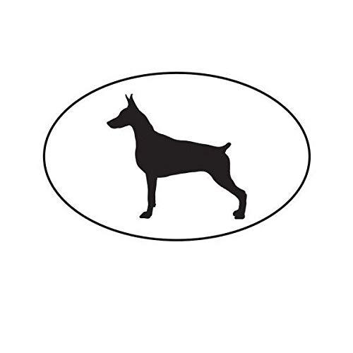 ION Graphics Magnet Doberman Pinscher Euro Oval Magnetic Vinyl Dog Canine 5