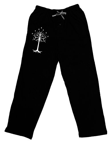 TooLoud The Royal White Tree Adult Lounge Pants - Black- Medium (Sale Az Phoenix Trees For Christmas)