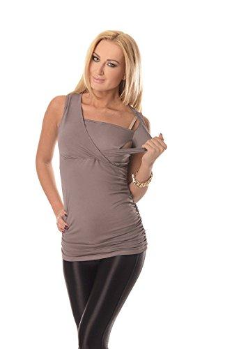 Purpless Maternity 2in1 Maternidad y el Embarazo la Parte Superior de Enfermería Lactancia 7005 Dark Cappuccino