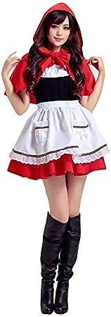 thematys Disfraz de Caperucita Roja para Mujer Carnaval y Halloween - Talla única 160-180cm