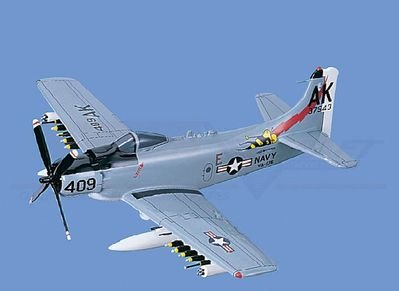 A-1H/AD-6 Skyraider - Navy, Loaded Aircraft Model Mahogany Display Model / Toy. Scale: 1/33