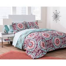 5pc Adorable Girl Seafoam Green Medallion Flower Twin XL College Dorm  Comforter Set (5pc Bed