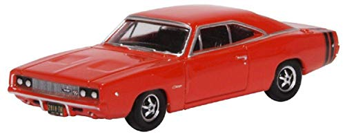 Oxford Diecast 1:87 Scale Dodge Charger 1968 Bright - Scale Oxford