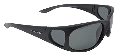 Side Shields Angler Sunglasses Polarized Grey Cat 3 UV400 Lenses