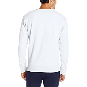 Champion Men's Powerblend Pullover Sweatshirt, White, Large