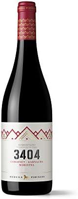 Bodega Pirineos 3404, Vino Tinto con Denominación de Origen - Botella de 75 cl