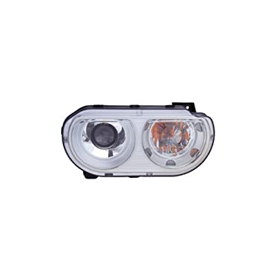 OE Replacement Dodge Challenger Passenger Side Headlight Assembly Composite (Partslink Number CH2503219): Automotive