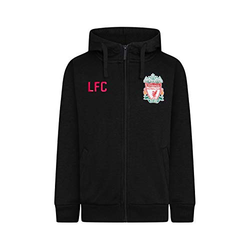Liverpool FC Official Soccer Gift Mens Fleece Zip Hoody Black XL