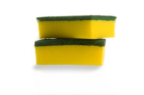 Lola Pot Brite Heavy Duty Scour N' Sponge, For Pots, Pans, Ovens and Grills, Medium Duty Fiber, Non-Scratch, 4x2.75