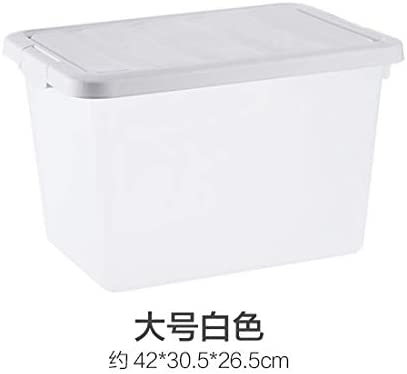 HainA Caja de almacenaje de plástico Transparente para Guardar Juguetes, Ropa, etc, Großes Weiß, tamaño: Amazon.es: Hogar