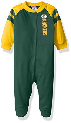 Gerber - Sports Licensed Gerber Childrenswear NFL Green Bay Packers Boys Sleep 'N Play Dress, 6-9 Months, Green price tips cheap