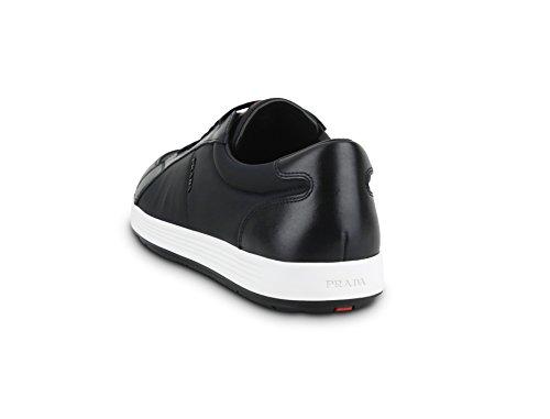 Sneakers Mens Black Prada With Leather up Nylon 4E2939 Lace Nero YxSqf