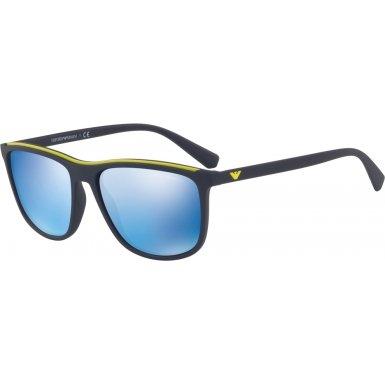 Emporio Armani EA4109 563855 Matte Blue EA4109 Rectangle Sunglasses Lens - Blue Emporio Armani Sunglasses