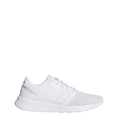 adidas Women's Cloudfoam QT Racer, White/Grey, 6.5 M US